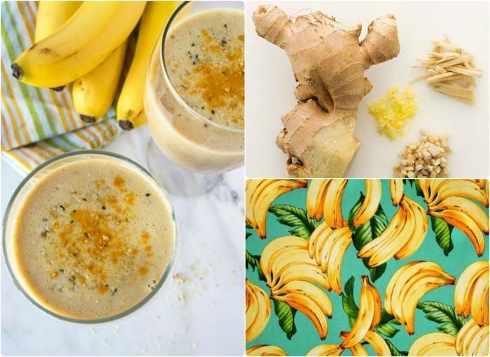 Лечебный бананово-имбирный напиток
