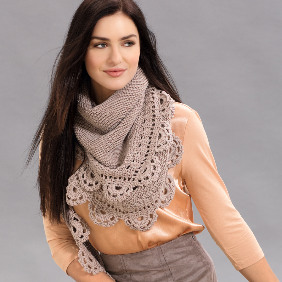 platok-s-kaimoi Спицами вязание косынок. Как связать косынку спицами: стильный предмет гардероба без лишних усилий