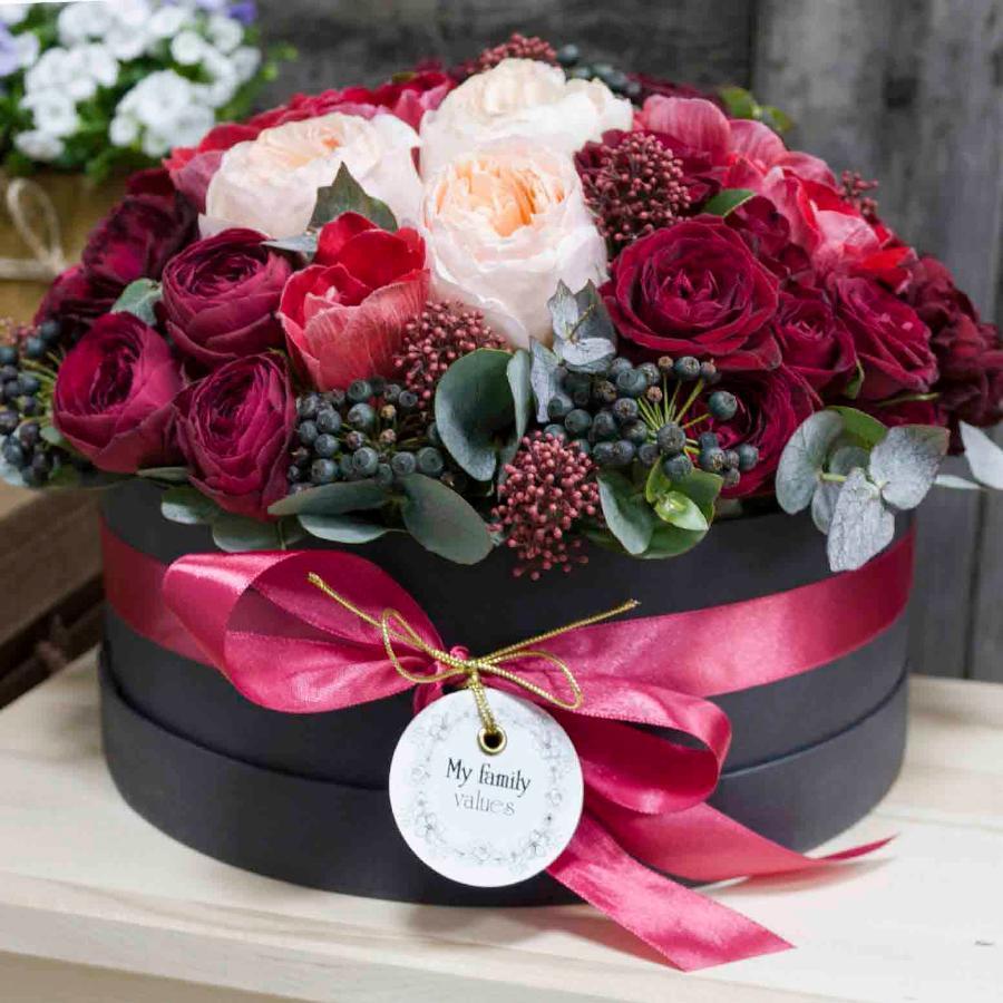 с днем рождения картинки цветы в коробке россии свои традиции
