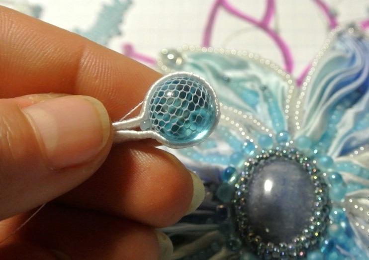 Получается такая заготовка для шибори-ожерелья