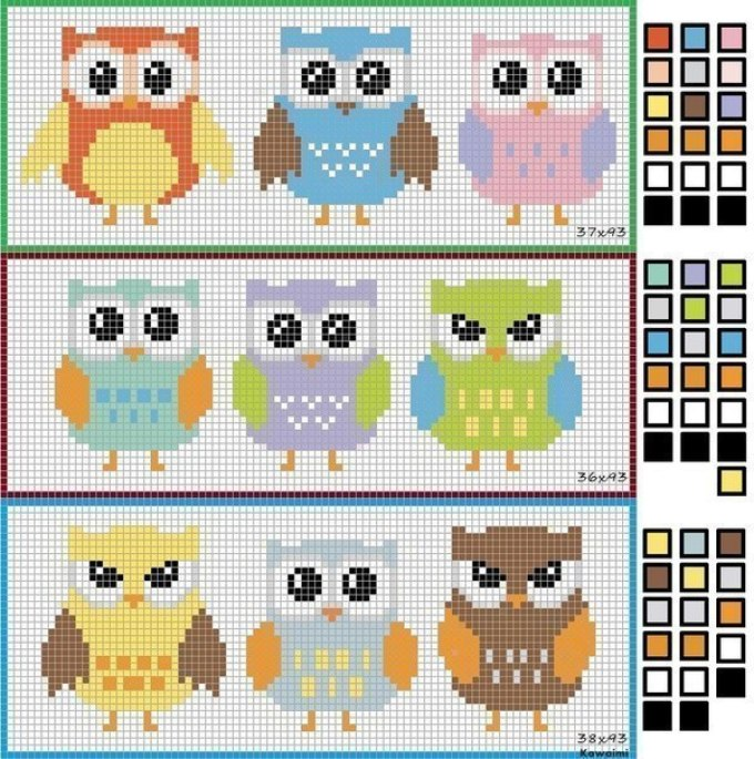 risunok-sovi-po-kletochkam-shabloni Как рисовать сову карандашом поэтапно для начинающих и детей? Как рисовать по клеточкам сову, красками?