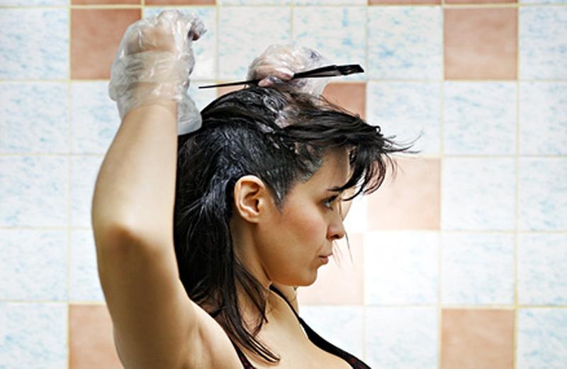 Последовательность покраски волос