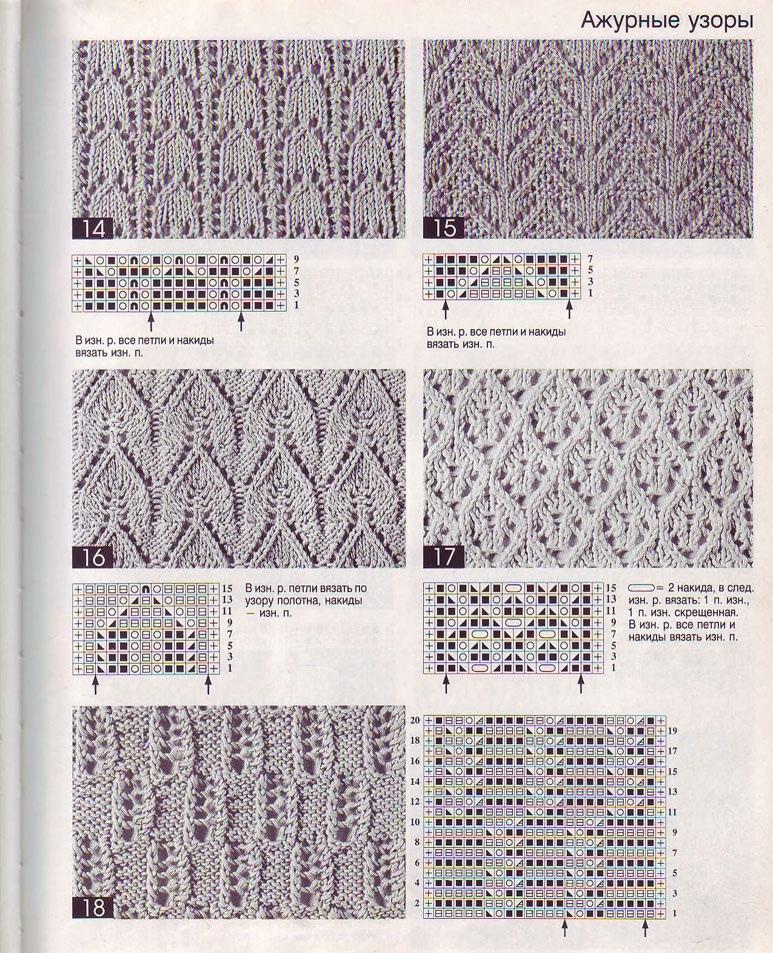 Вязание спицами с описанием и схемами картинками