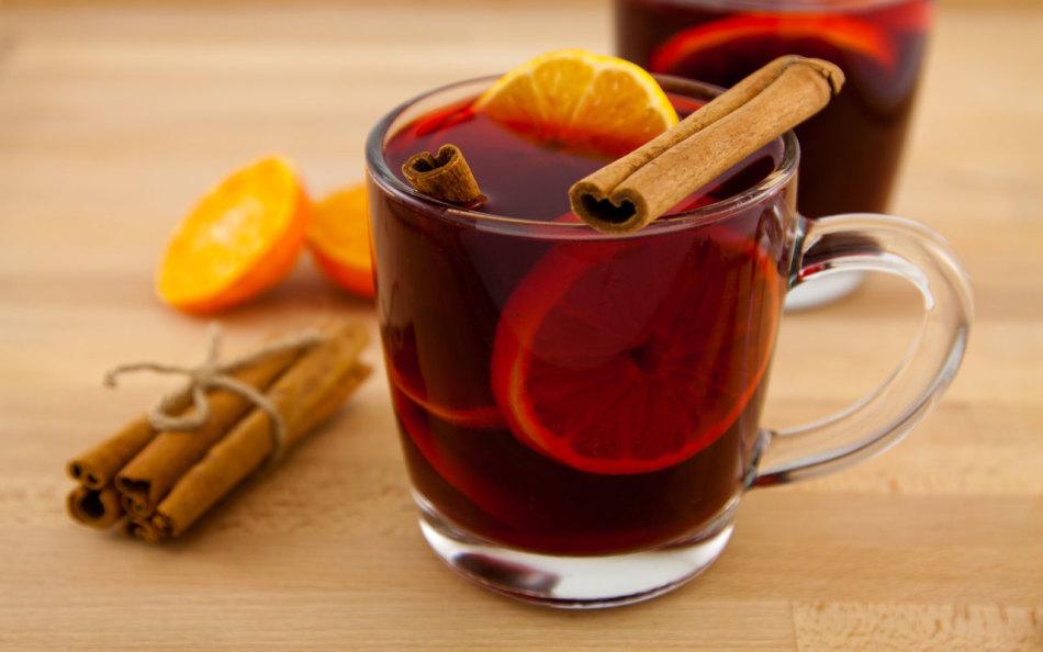 Алкогольный глинтвейн с апельсином