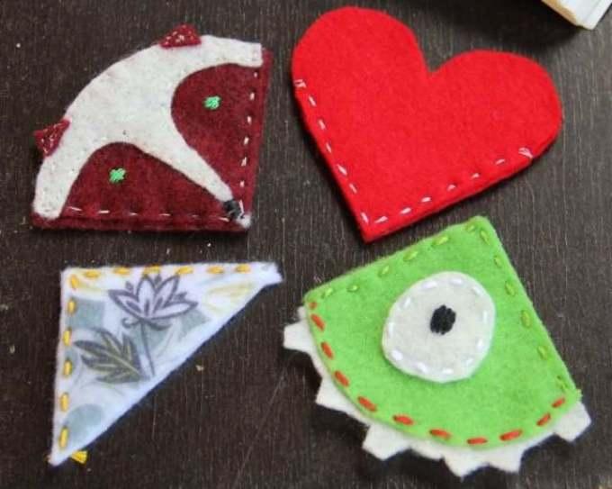 vot-takie-raznoobraznie-ugolochki-zakladki-mogut-poluchitsya-iz-fetra Закладка-уголок из бумаги для книг (оригами): как сделать своими руками