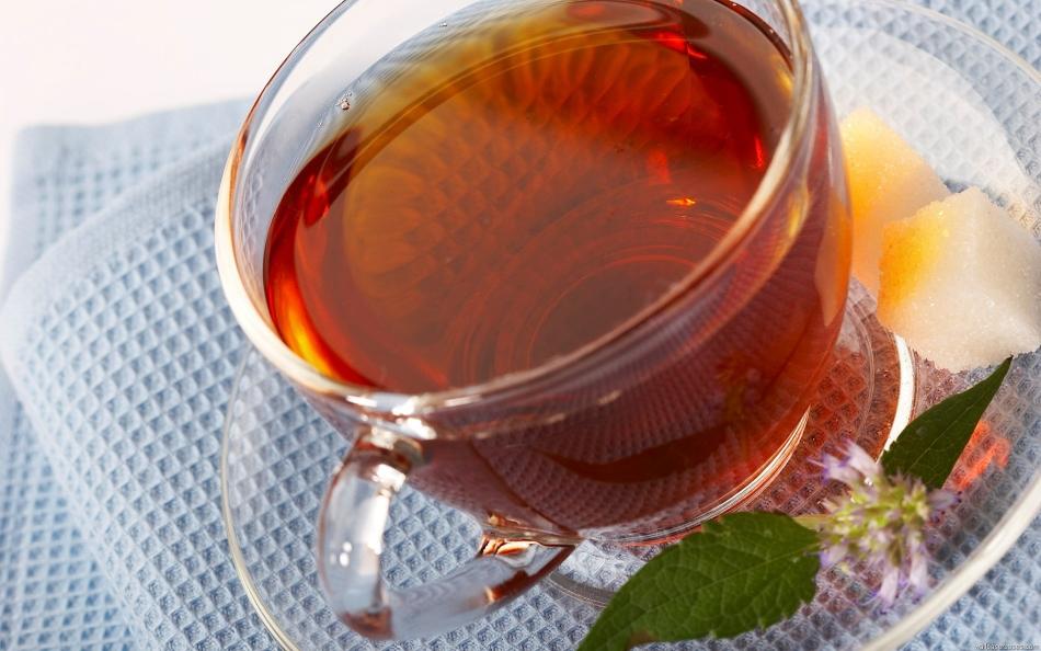 Чашка ароматного чая с китайским лимонником