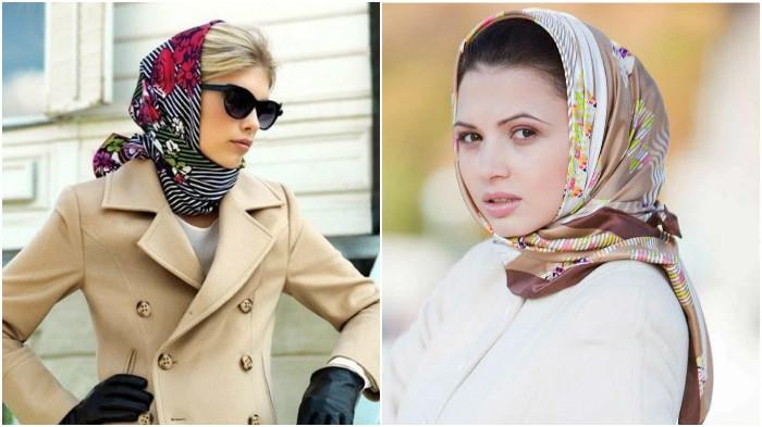 stil-gollivud Как красиво завязать на голову шарф разными способами? Как красиво и стильно завязать шарф на голове летом, с пальто, мусульманке?