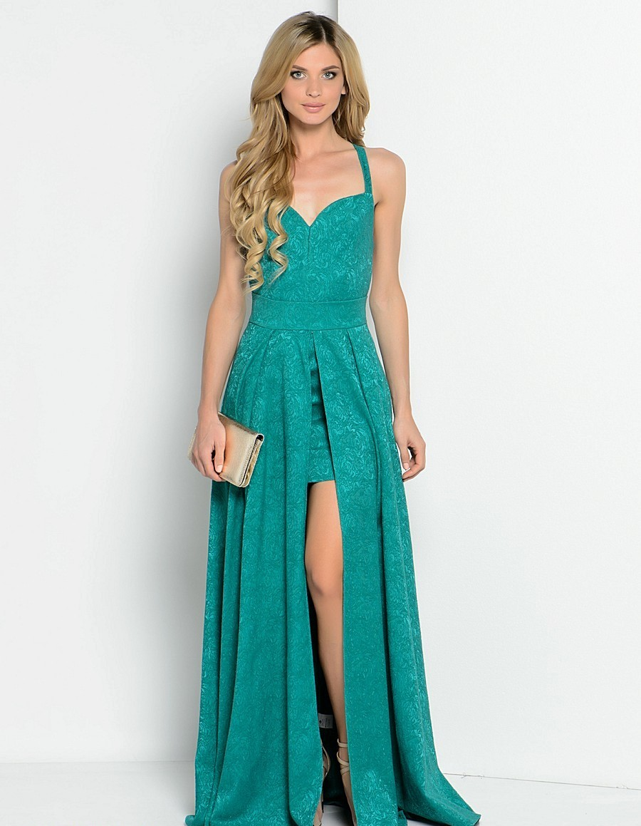 prostoe-plate-transformer-na-vipusknoi Платье трансформер: варианты вечерних платьев. Как сшить платье со съемной юбкой своими руками?