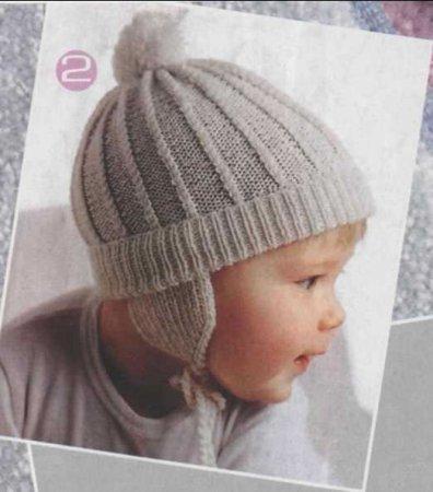 shapochka-s-ushkami Шапка спицами для мальчика на весну, осень, зиму: описание и схема. Как связать детскую шапку для мальчика спицами шлем, ушанку, миньон, с шарфом?