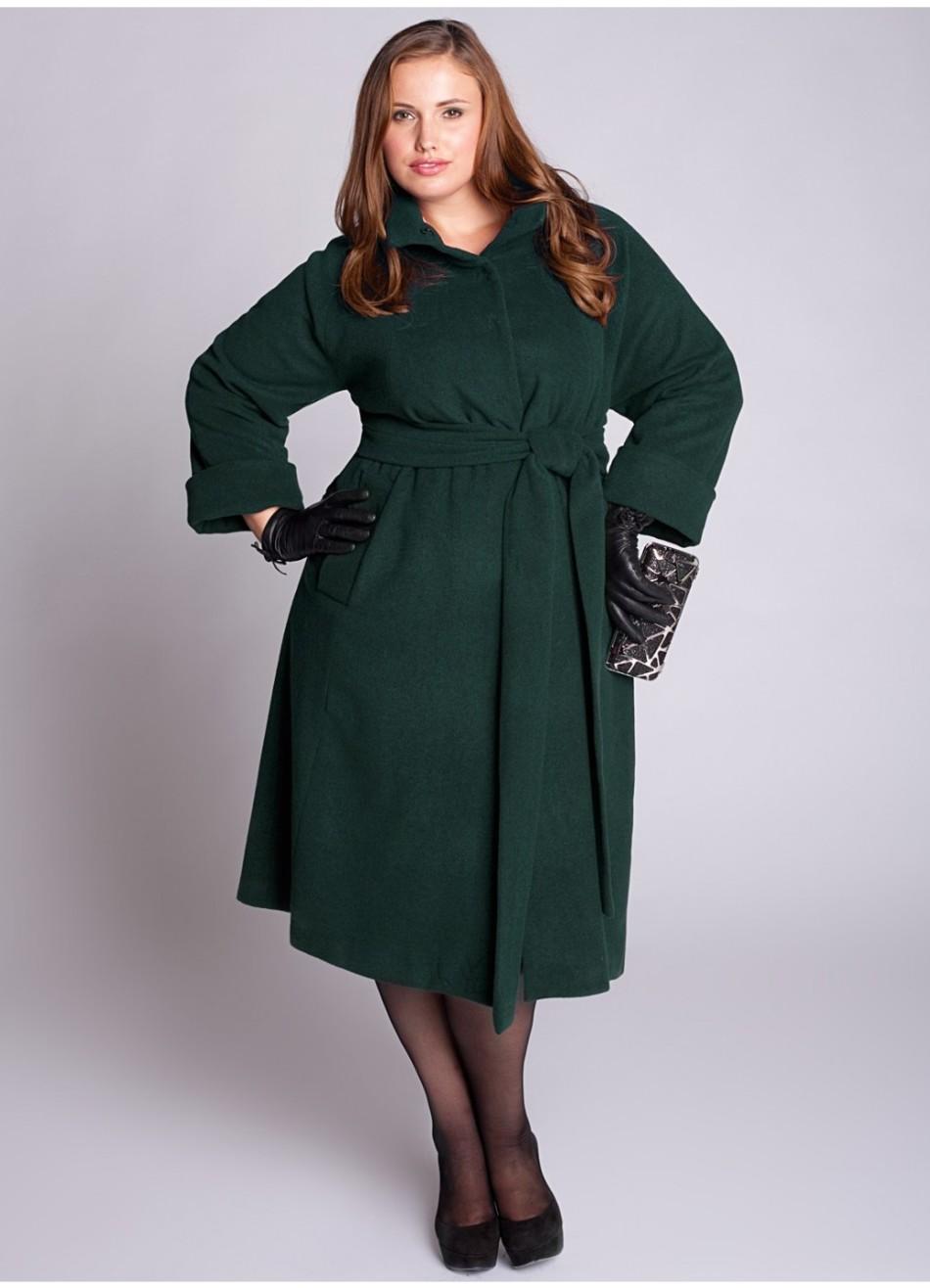 Шикарное пальто для женщин с пышными формами