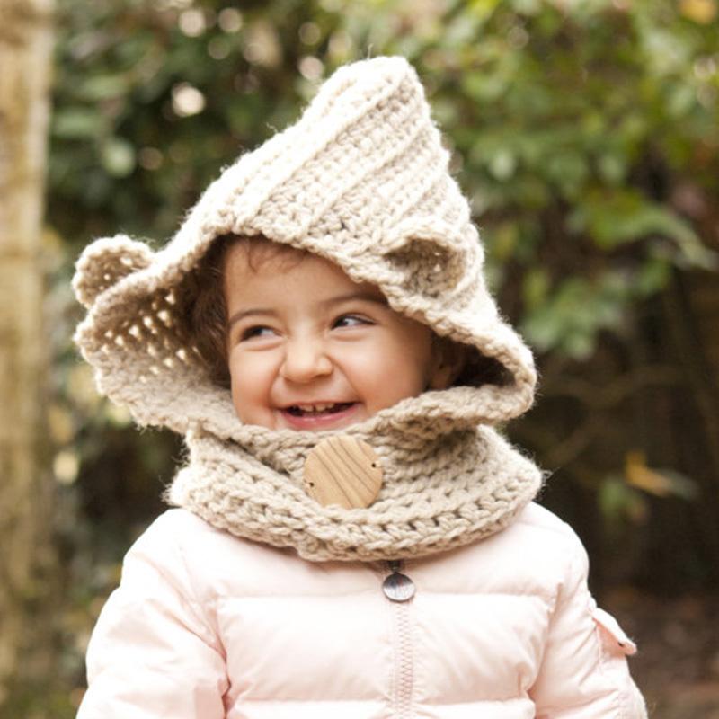 detskii-sharf-snud-kryuchkom-kapyushon---interesnaya-model Как связать красивый детский снуд для девочки и мальчика крючком? Вязаный детский шарф снуд крючком капюшоном, с шапкой, с ушками, ажурный: описание, схемы, узоры