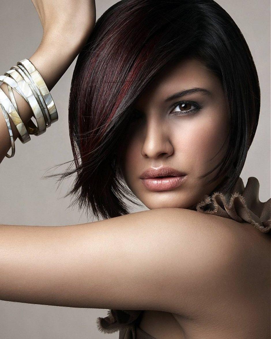 Подходящий цвет коротких волос для карих глаз