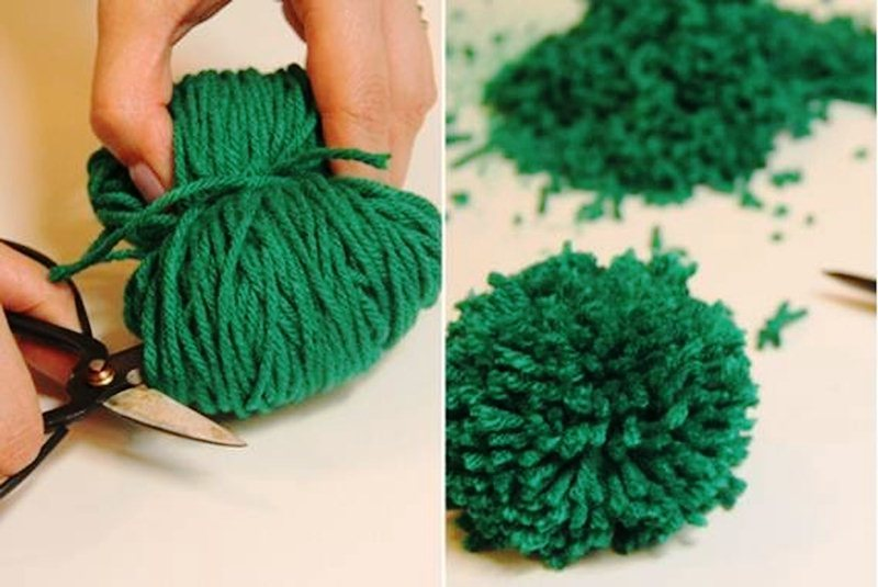 Помпоны для коврика
