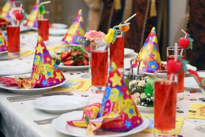 Украшение стола для детского дня рождения.