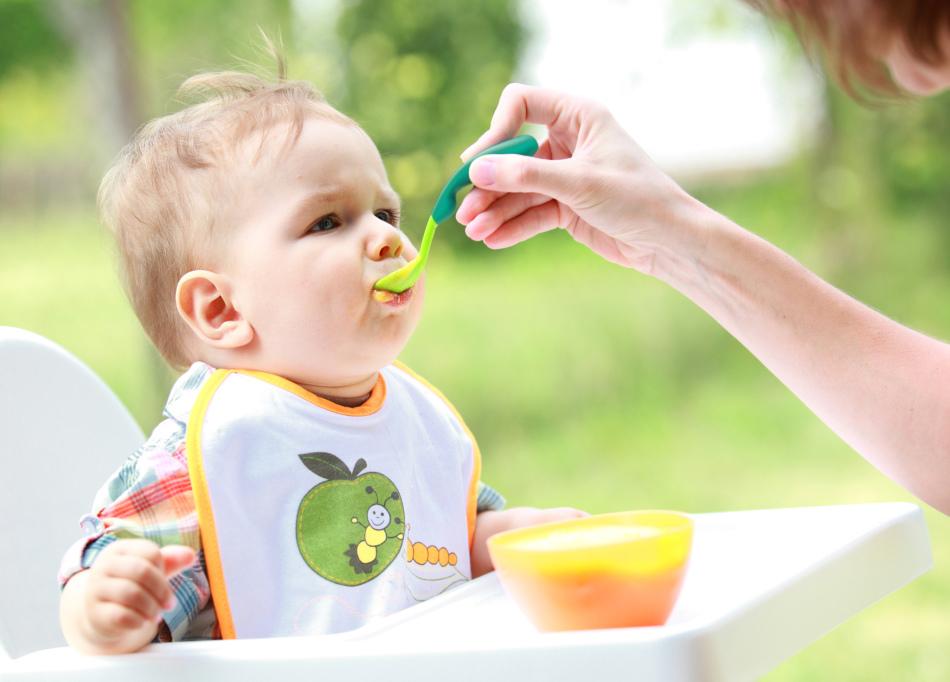 Кормление ребенка - суп-пюре