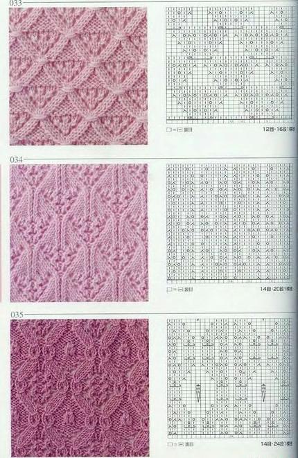 Простые схемы вязания