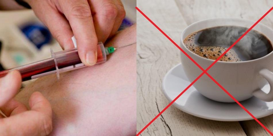 Перед сдачей анализов крови и мочи кофе пить нельзя.