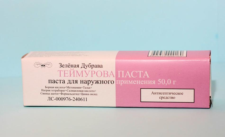 Теймурова паста - аптечный препарат при потливости ног