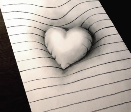 gotovii-risunok Как нарисовать 3д (3d) рисунок на бумаге карандашом
