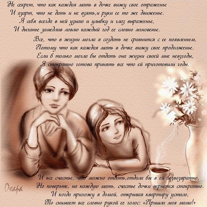 поздравления о любви дочери лицевой стороной открытки
