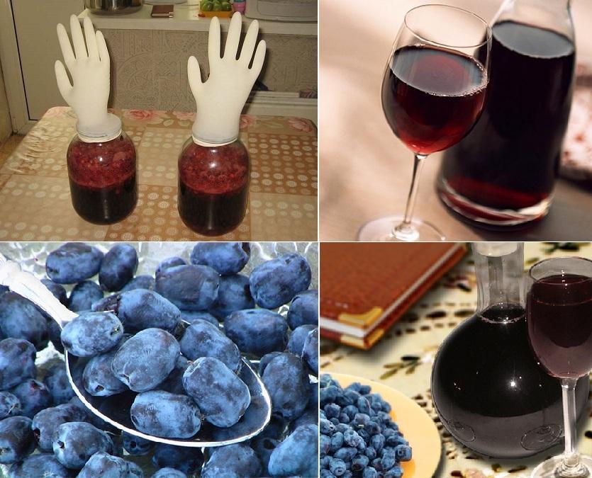 Жимолостное вино