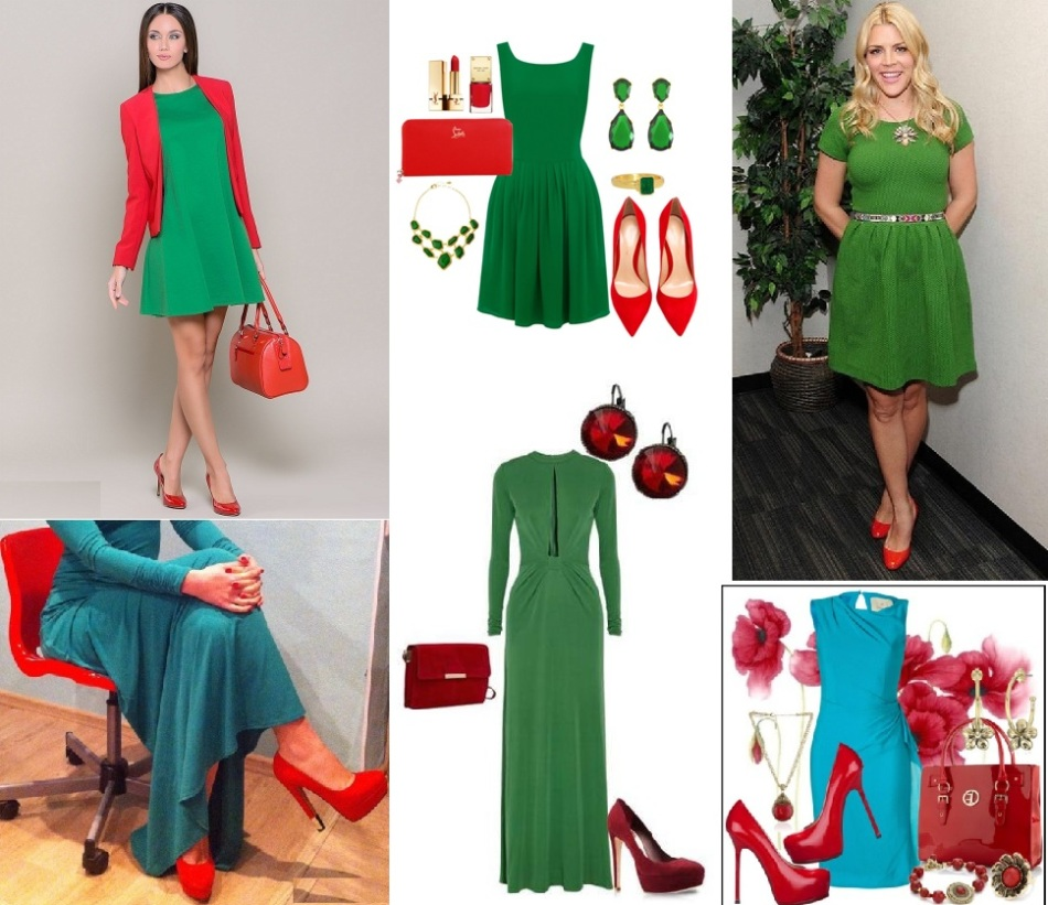 изумрудное платье и красные туфли фото формы акне узелково-кистозные