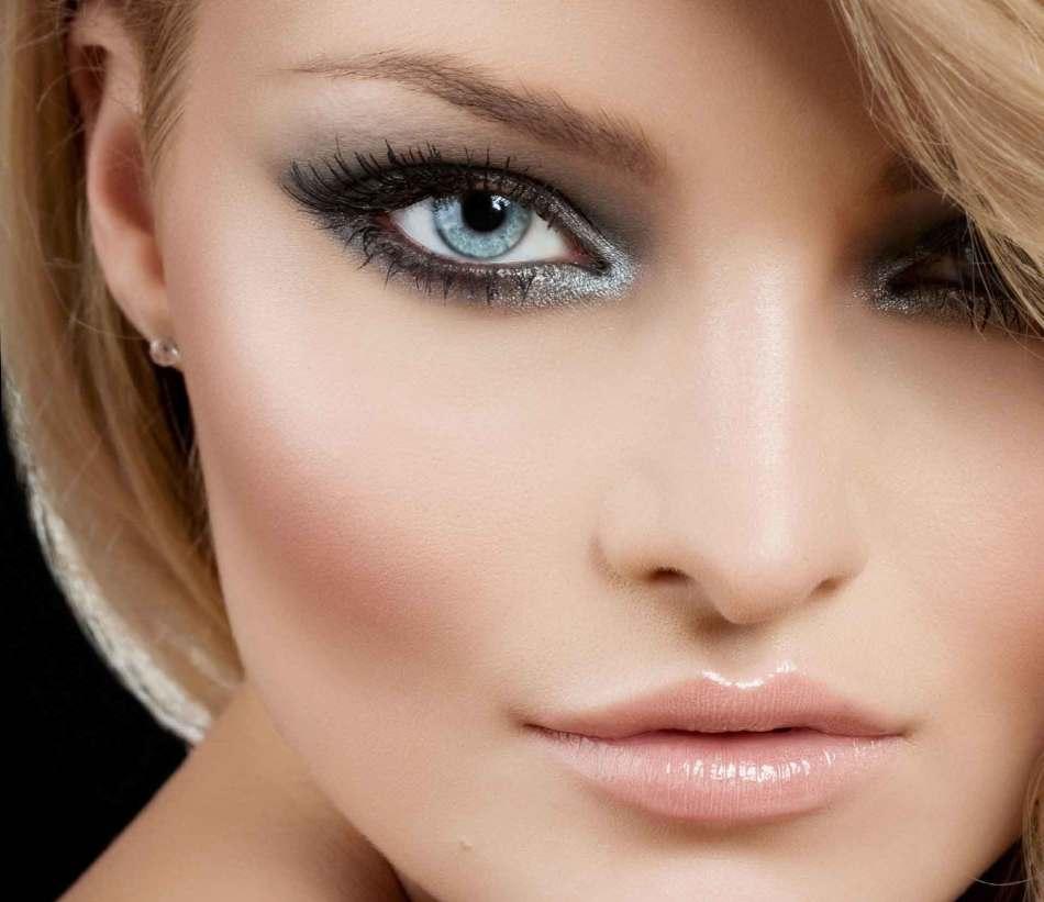 Макияж для невесты с зелёно-голубыми глазами