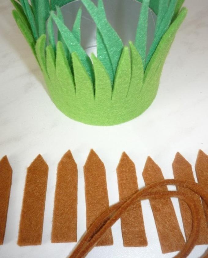 Заготовки для кашпо из фетра