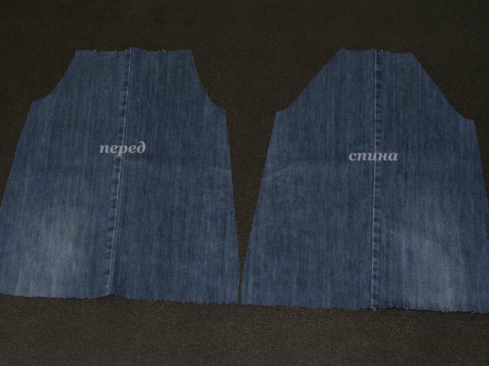 c054202499c68813ae0df392cee64a75 Сарафан из старых джинсов своими руками: выкройки, как сшить детский сарафан
