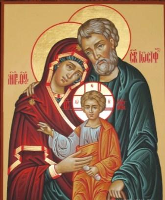 Семейная икона - иосиф, мария, иисус
