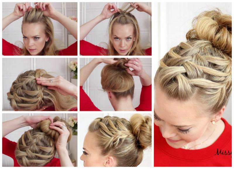Фото причёски на длинные волосы в домашних условиях своими руками по шагово