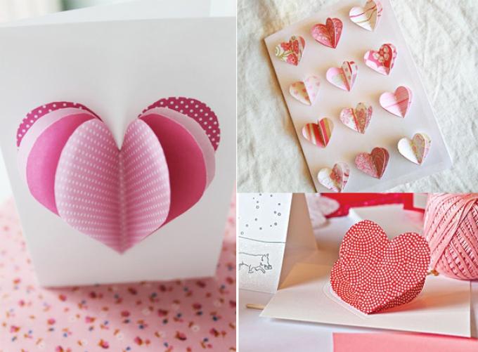c22d32930b45f944358d556e027edf8c Поделка — валентинка своими руками из бумаги, ткани: шаблоны, выкроки. Как сделать красивую валентинку своими руками маме, парню, в школу?