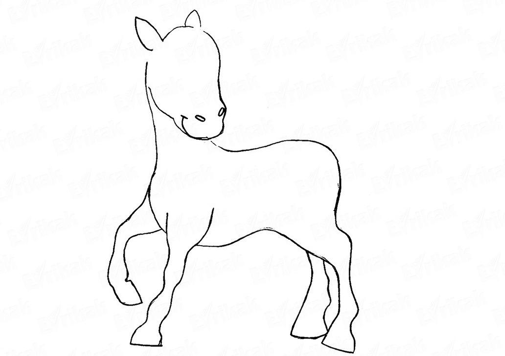 pridaem-pravilnuyu-formu-golove Как нарисовать единорога Рисуем единорога поэтапно