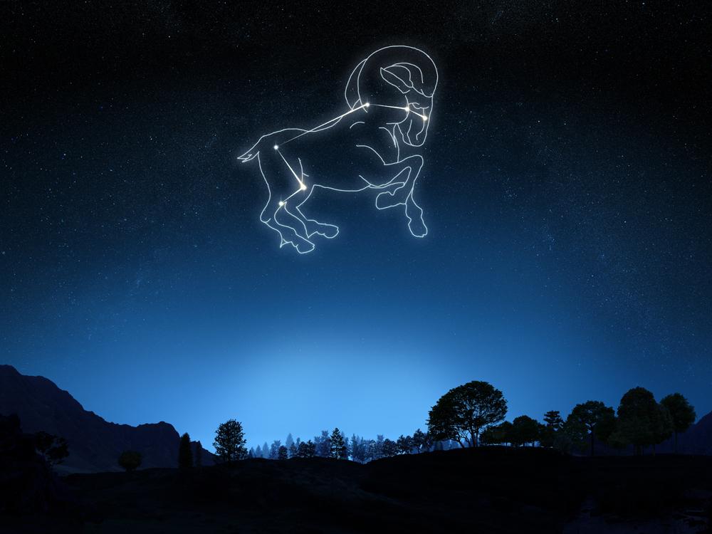 Фото на небе овен