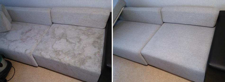 Как убрать развод с дивана