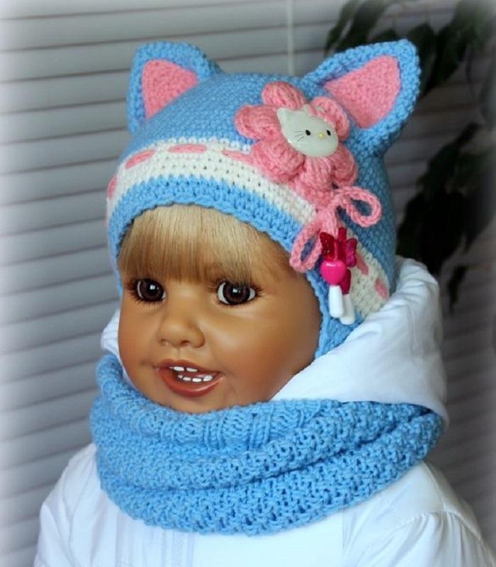 c46b16b1960c829a90e885c28fe5ca5d Шапка для девочки крючком на весну, зиму, осень: схемы и описание. Как связать детскую шапку для девочки крючком с ушками, Микки Маус, шлем?