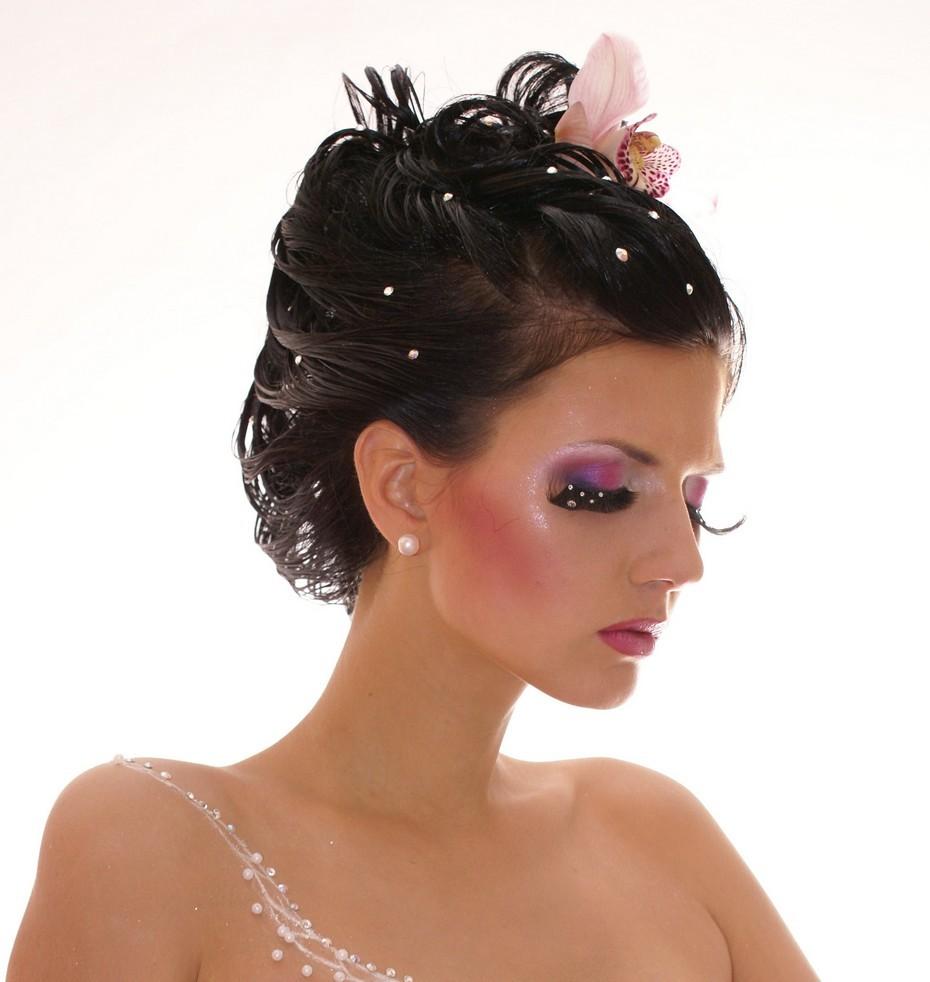 Свадебный макияж в венецианском стиле