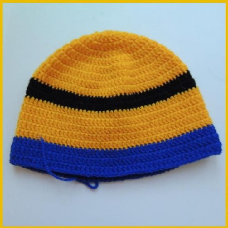 dovyazivaem-sinei-pryazhei-do-nuzhnoi-visoti Шапка спицами для мальчика на весну, осень, зиму: описание и схема. Как связать детскую шапку для мальчика спицами шлем, ушанку, миньон, с шарфом?