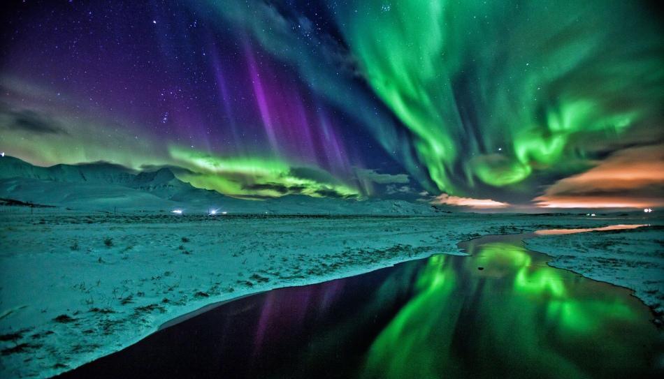 Полярное сияние в исландии