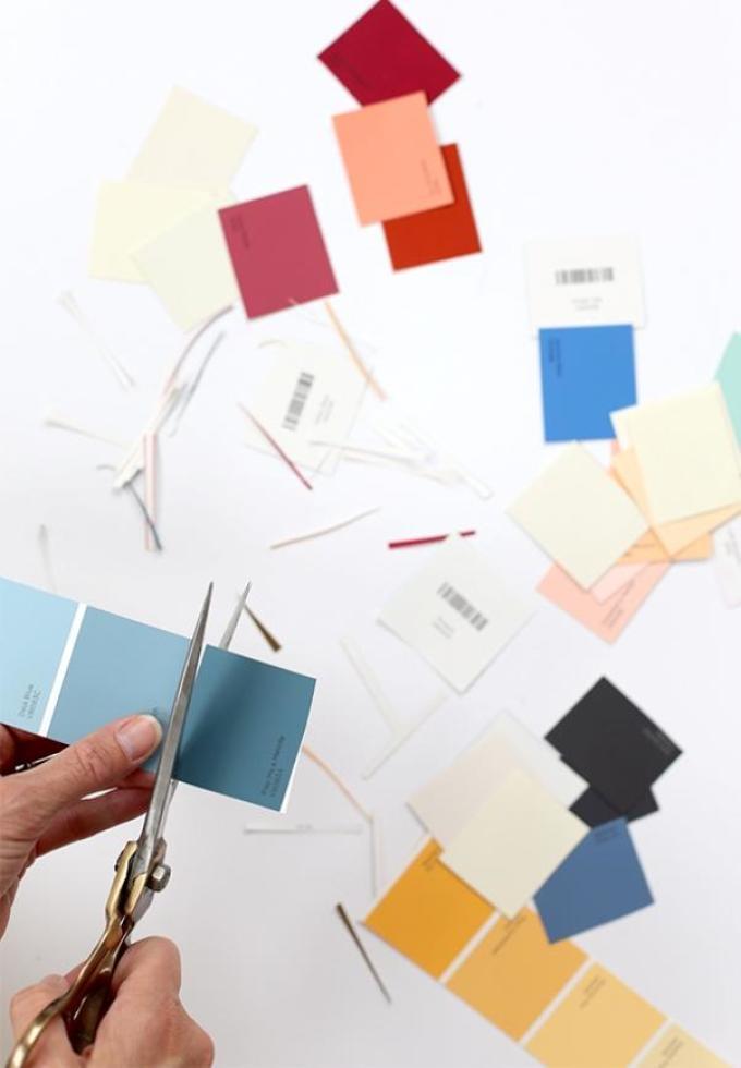 virezanie-kvadratikov-dlya-nastennogo-kalendarya Как сделать календарь 2017 своими руками