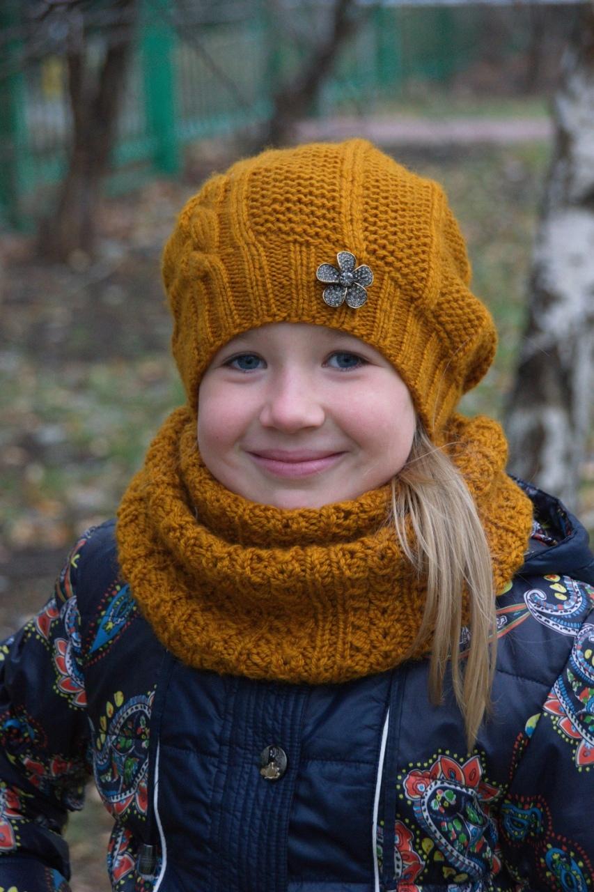 Связать шапочку девочке спицами схема фото 85