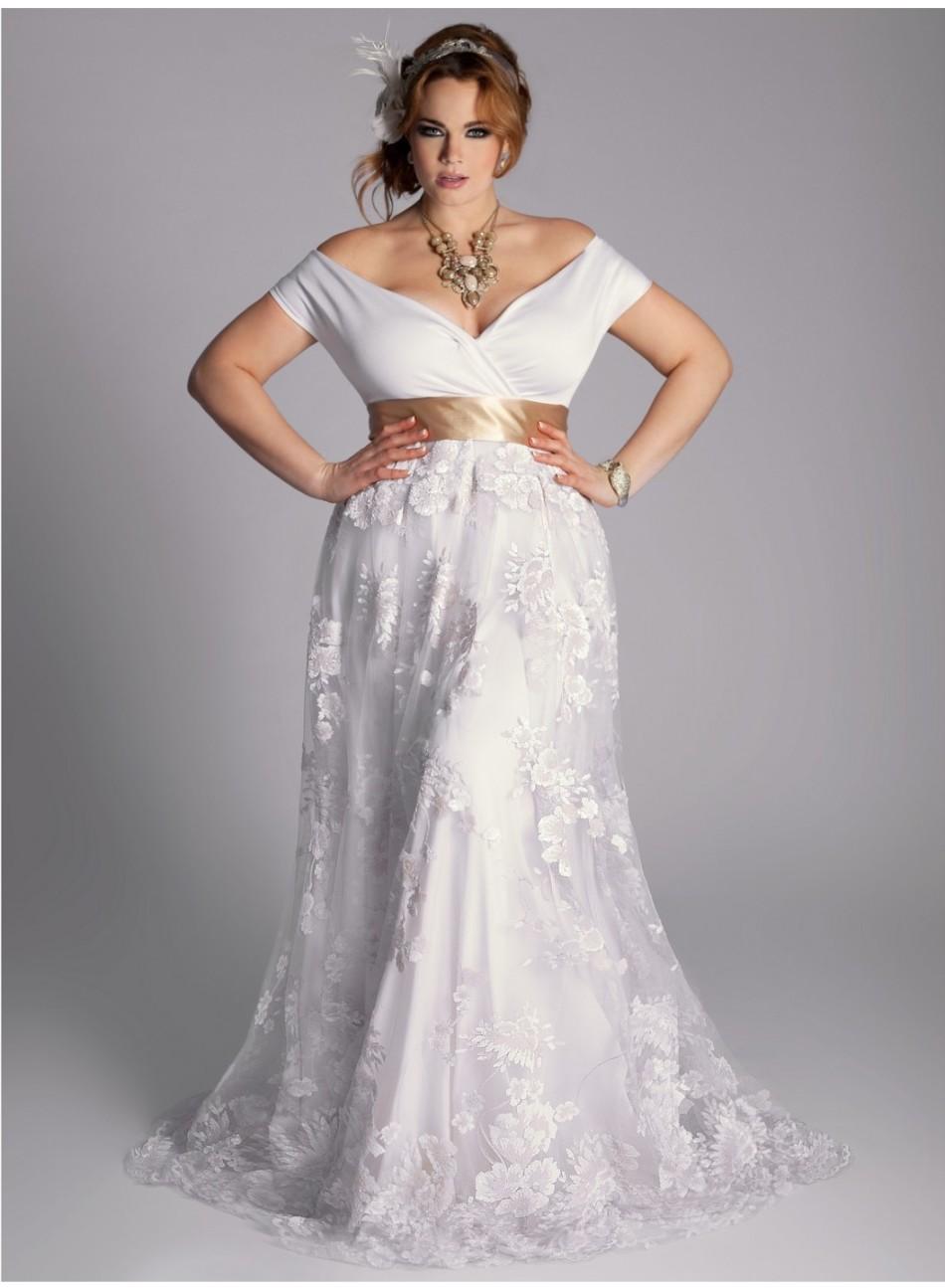 Платье для венчания для пышнотелых красавиц