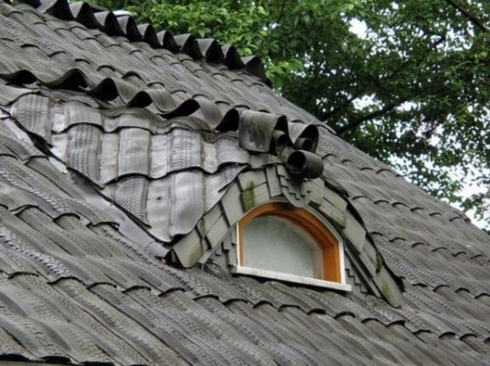 Крыша из авторезины