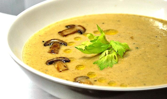 Суп из замороженных груздей.