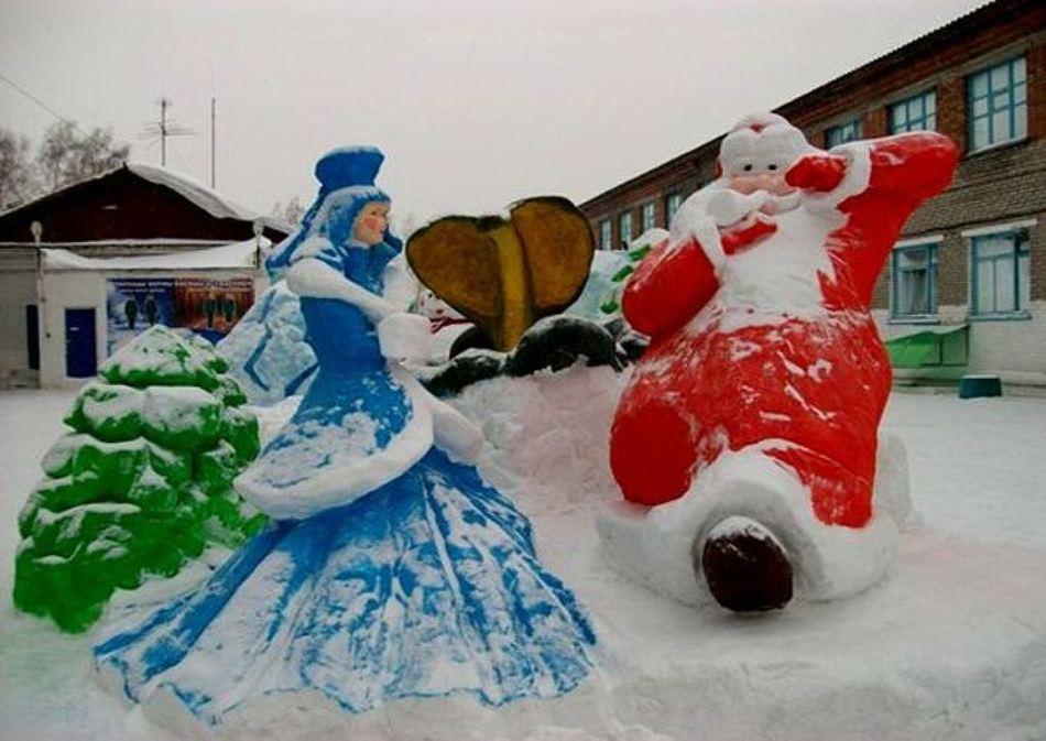 Какие фигуры из снега можно сделать фото фото 833