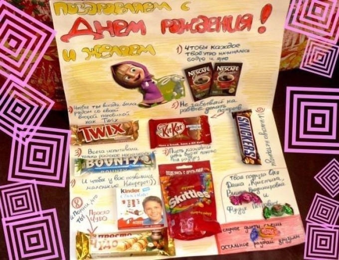поздравление на день рождения плакат со сладостями фото возможности было фото