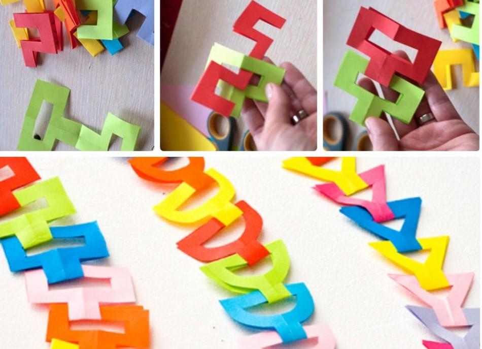 ca21e6eca8f3e226ae7696a52b64cde3 Как сделать гирлянду из бумаги своими руками — схемы, шаблоны. Как сделать гирлянду из гофрированной бумаги. Гирлянды на день рождение, свадьбу, новый год в домашних условиях