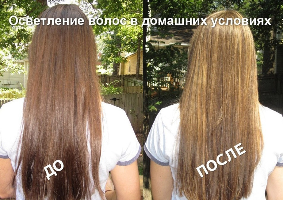 Осветление волос отваром ромашки и медом