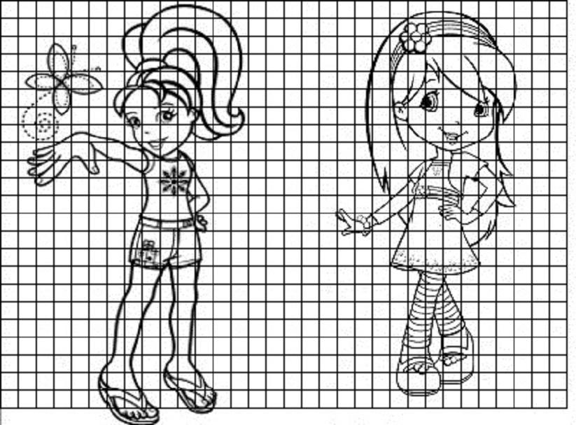 devochki-v-stile-anime-dlya-srisovki-v-dnevnik Красивые и легкие рисунки для срисовки карандашом поэтапно для начинающих. Красивые и легкие рисунки по клеточкам для срисовки в тетради и личном дневнике для девочек и мальчиков