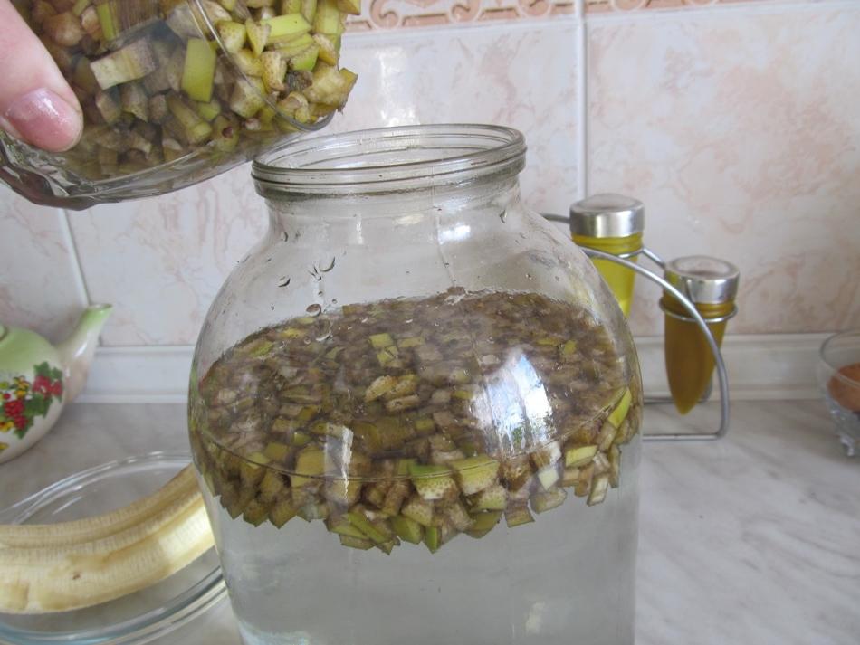 Настой банановых шкурок для тепличной рассады баклажан